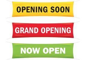 Grand Opening Banner Vektoren