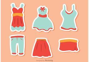 Mädchen Mode Vektoren Pack 1