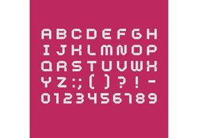 Vit Origami Font Vector