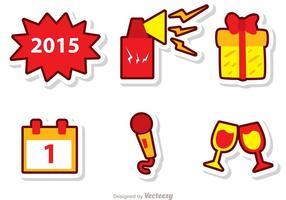 Glückliche Silvester-Vektoren Pack 3