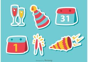 Gott nytt år vektorer Pack 4