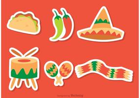 Mexikanische Ikonen Vektoren Pack
