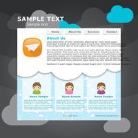 Social webbsida vektor mall