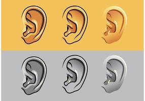 Mänskliga öronvektorer vektor