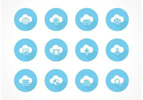 Kostenlose Cloud Computing Vector Icons