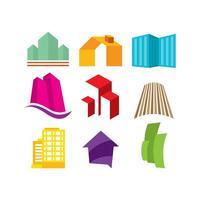 Fastighetslogotyper vektor