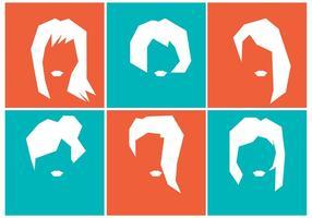 Silhouette der Mädchen Frisuren vektor