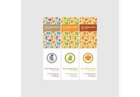 Vertikale Immobilien-Visitenkarten-Vektoren