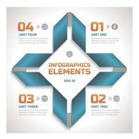 moderne Cross Shape Business Infografik