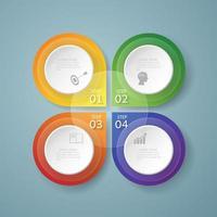4 Schritt Business einfache Infografik
