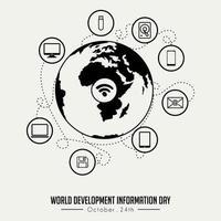 världsutvecklingsinformationsdag vektor