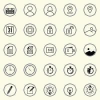 Reihe nützlicher Business-, Technologie- und elektronischer Symbole