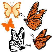 Sammlung von Schmetterlingen vektor