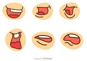 Cartoon Mouth Vector Pack