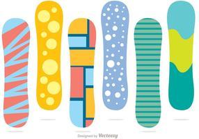Snowboard Färg Vector Pack