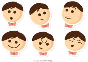 Niños Emotions Vector Pack