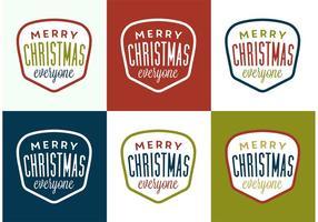 Weihnachts-Label