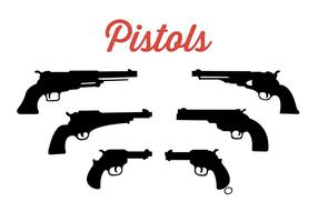 Samling av pistoler vektor