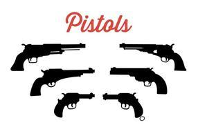 Sammlung von Pistolen