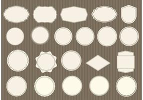 Gratis Vintage Etiketter Set vektor