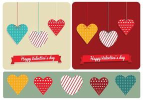 Gemusterte Herzen für Valentinstag vektor