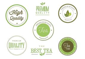 Freie Tee Etiketten Vektor Set