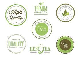 Gratis te etiketter vektor uppsättning