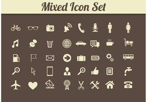 Retro Mixed Media Icon Vektoren