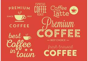 Premium Typografisk Kaffeaffisch vektor