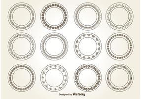 Dekorativa cirkelprydnader vektor