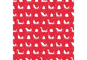 Free Santa's Sleigh Nahtlose Muster