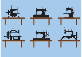 Samling av vintage symaskin vektorer