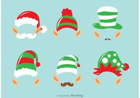 Kostym Santa Elves Vector Pack