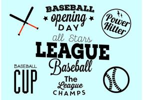 Baseball Eröffnungstag Typografisches Set vektor