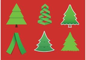 Moderna julgran vektorer