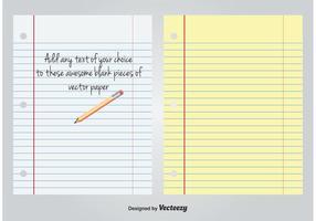 Weißes und gelbes gezeichnetes leeres Papier vektor