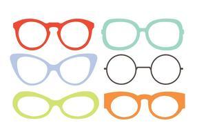 Set av ögonglasögon vektorer