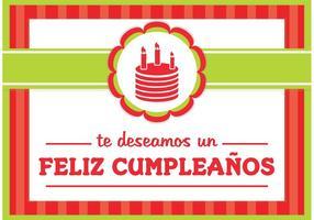 Feliz cumpleaños kort