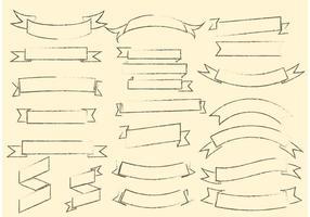 Free Grunge Ribbon Vektor Set