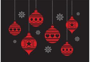 Weihnachtsverzierung Set vektor
