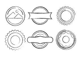 Vector Grunge Briefmarken