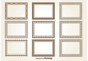Dekorative quadratische Rahmen