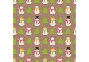 Gratis Snowman Pattern Vector