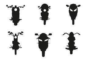 Vector Motorrad Vorderseite Silhouette