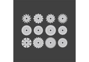 12 cirkelsågbladvektorer