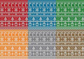 Weihnachtsstrickjacke Muster