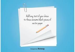 Blank antecknings papper