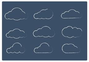 Sketchy Cloud Vektoren