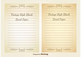 Blankes Weinlese gezeichnetes Papier vektor