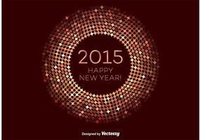 Bronze Happy New Year Vektor Rahmen